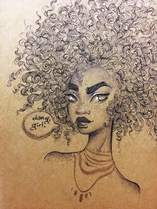 500x666 Afro Black Hair Natural Hair Art Black Woman Tumblr