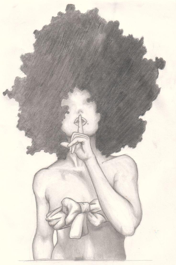736x1111 Black Woman Drawing Best Afro Tattoo Ideas