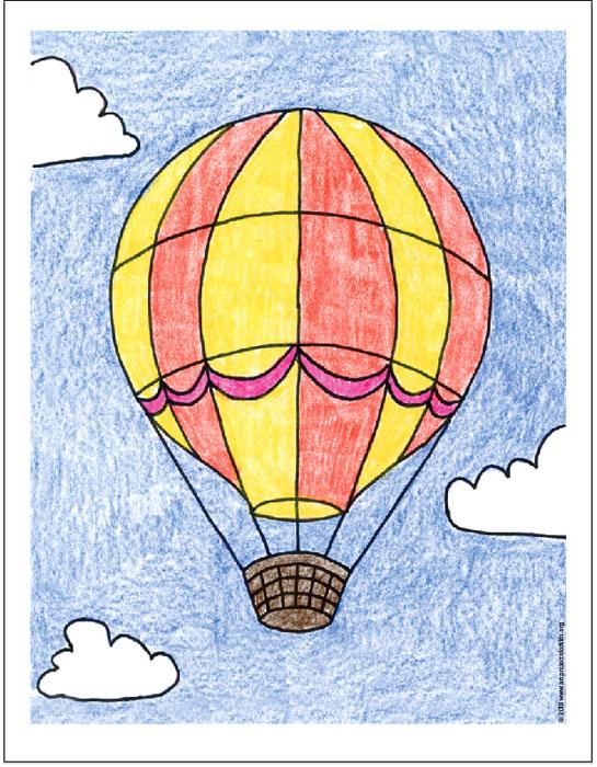 545x700 Draw A Hot Air Balloon