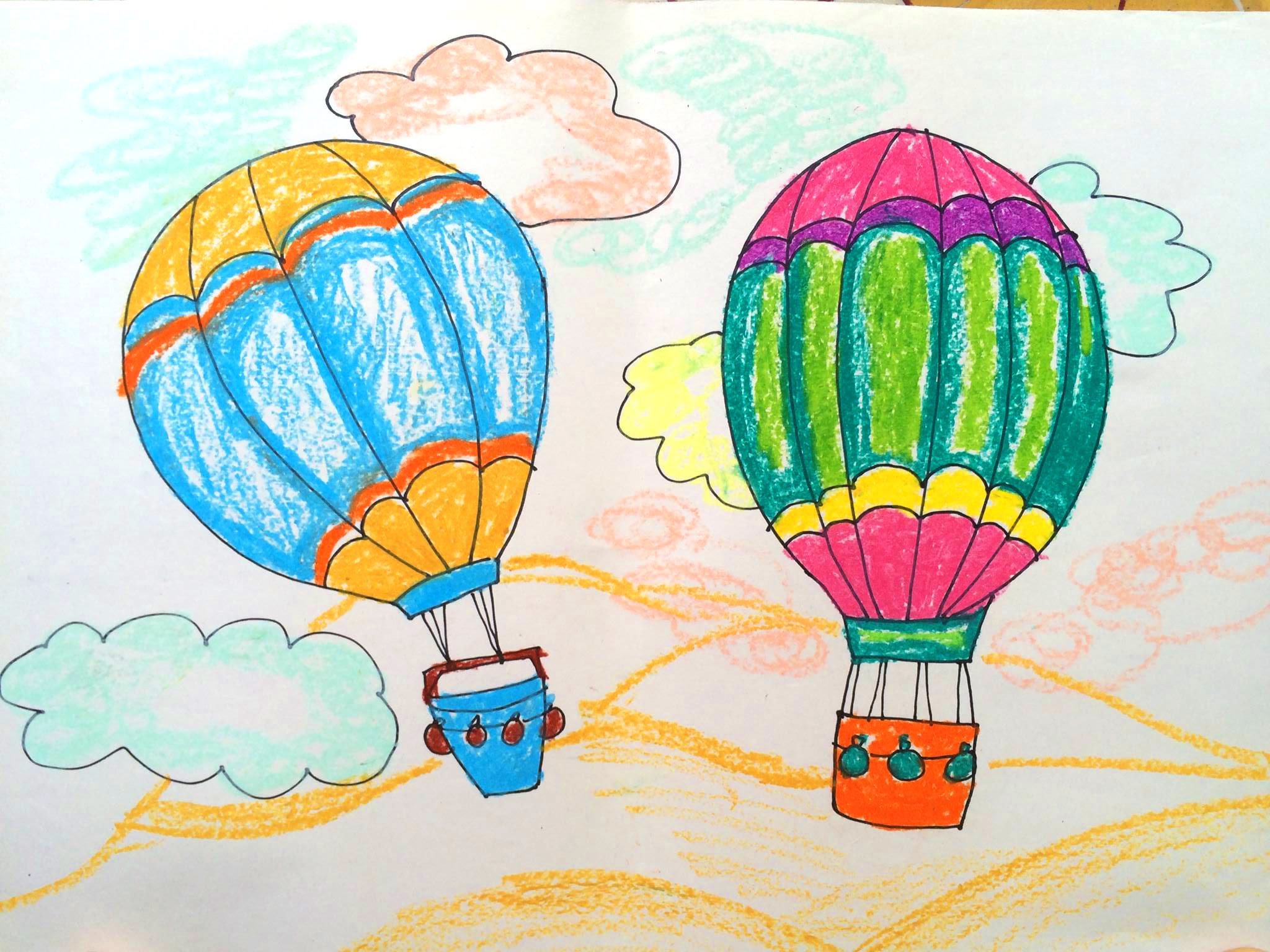 2048x1536 How Draw Transport How Paint A Hot Air Balloon Easy