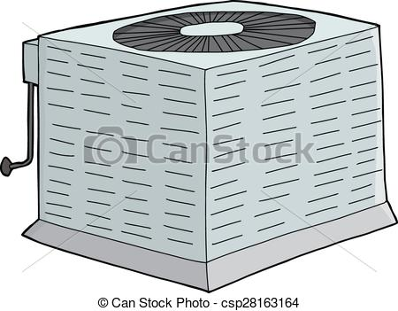 450x351 Isolated Metal Ac Unit. Isolated Metal Air Conditioner