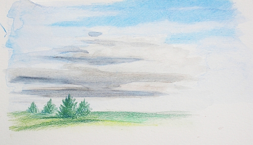 500x287 Colored Pencil Plein Air Drawing Week 3 Report