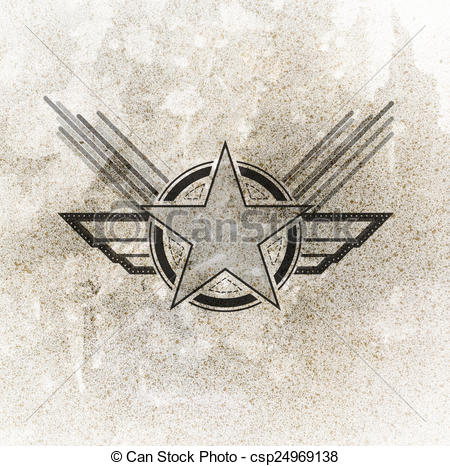 450x466 Drawings Of Air Force Military Symbol On Grunge Background