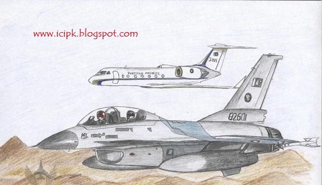 640x369 Pakistan Air Force Jet Drawing