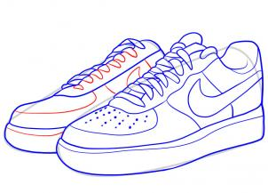 302x217 How To Draw Nike, How To Draw Air Force Ones Step 7 Art