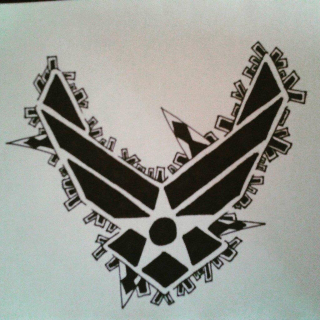 Good 1024x1024 Sharpie Air Force Logo By Nublie On DeviantArt