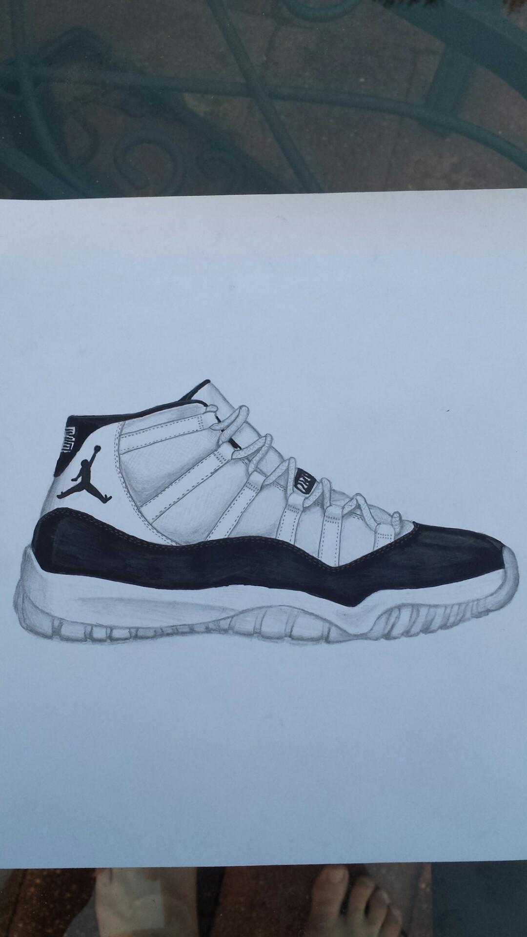 1080x1920 Finished Drawing, Air Jordan 11 Concord. I'Ll Draw The Shoe