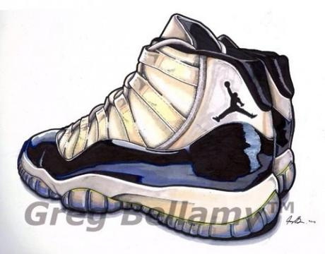 460x360 Air Jordan Retro 11 Drawing