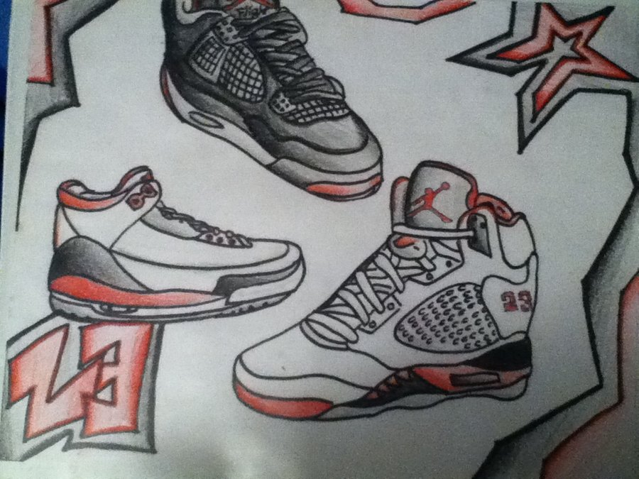 900x675 Air Jordans Drawings! By Chino1996