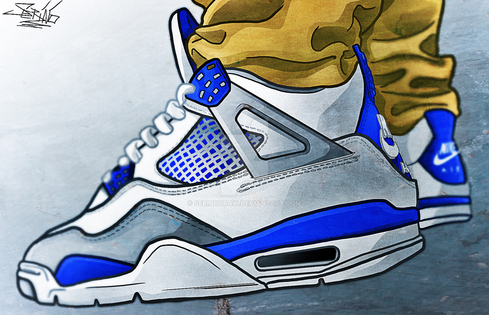 1600x1031 Jordan Iv Military Blue By Sebinodraw