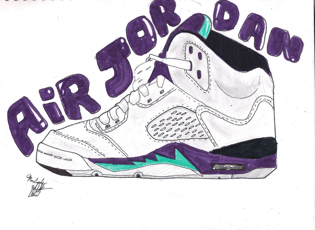 1024x747 Jordan V Drawing How To Draw Jordan 13 Provincial Archives Of