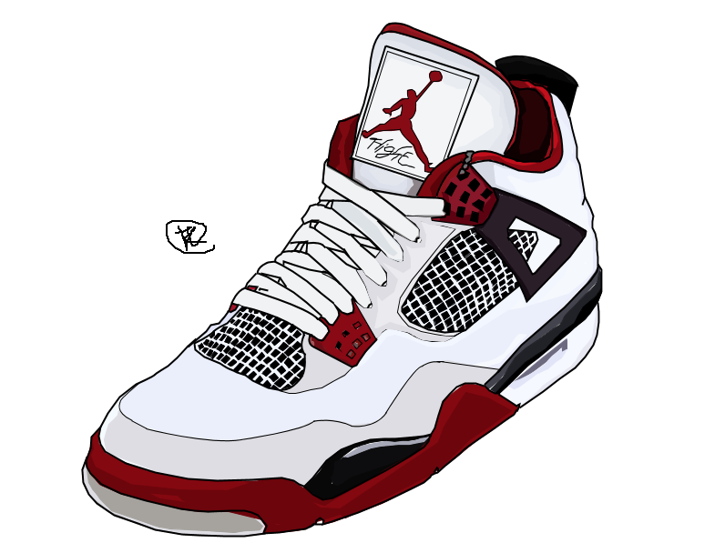 796x597 Nike Air Jordan Drawing In Colour By Iamkezzyy