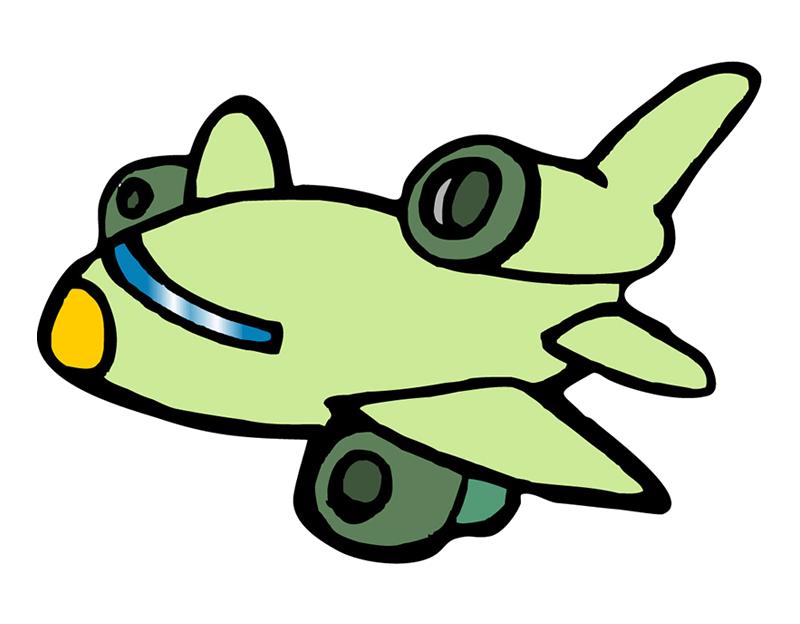 800x624 Airplane Cartoon Drawing