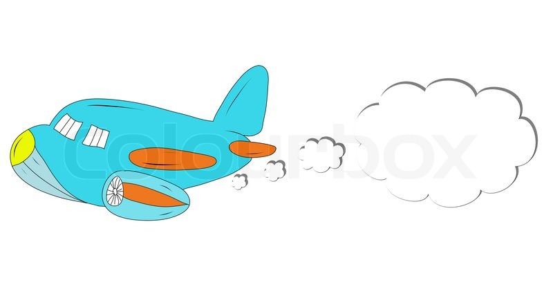 800x441 Drawing Cartoon Airplane Stock Photo Colourbox