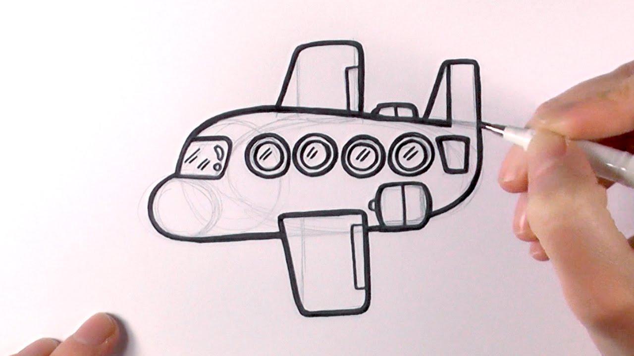 1280x720 How To Draw A Cartoon Plane