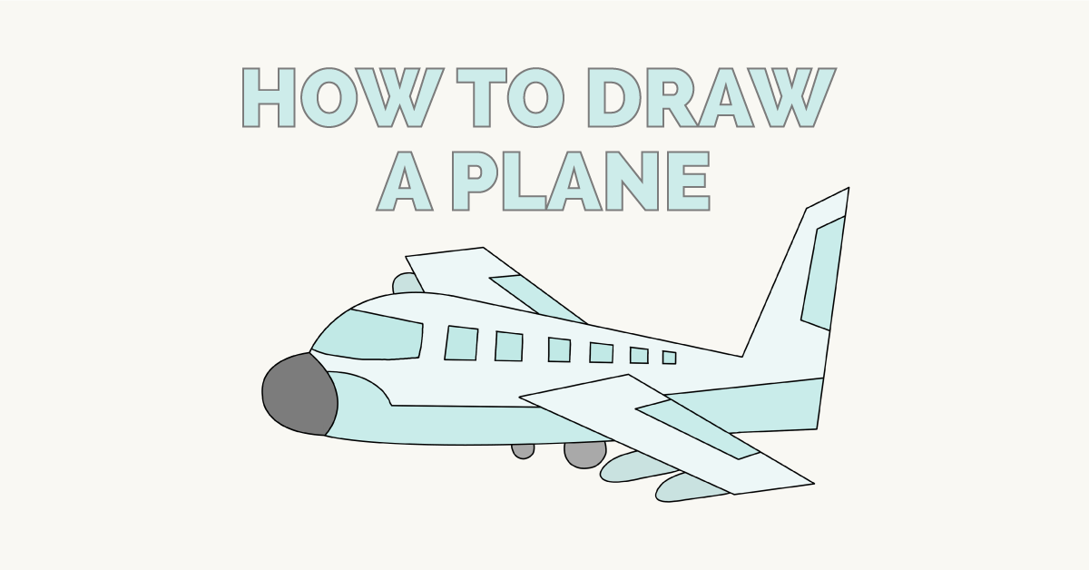 1200x628 How To Draw A Plane Easy And Simple Guide Airplane Drawing