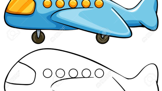 570x320 Simple Drawing Of Airplane Draw A Plane Real Easy