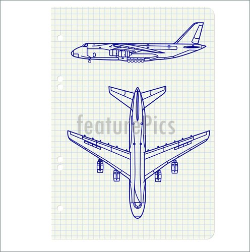 496x500 Aircraft Transportation Airplane Drawing