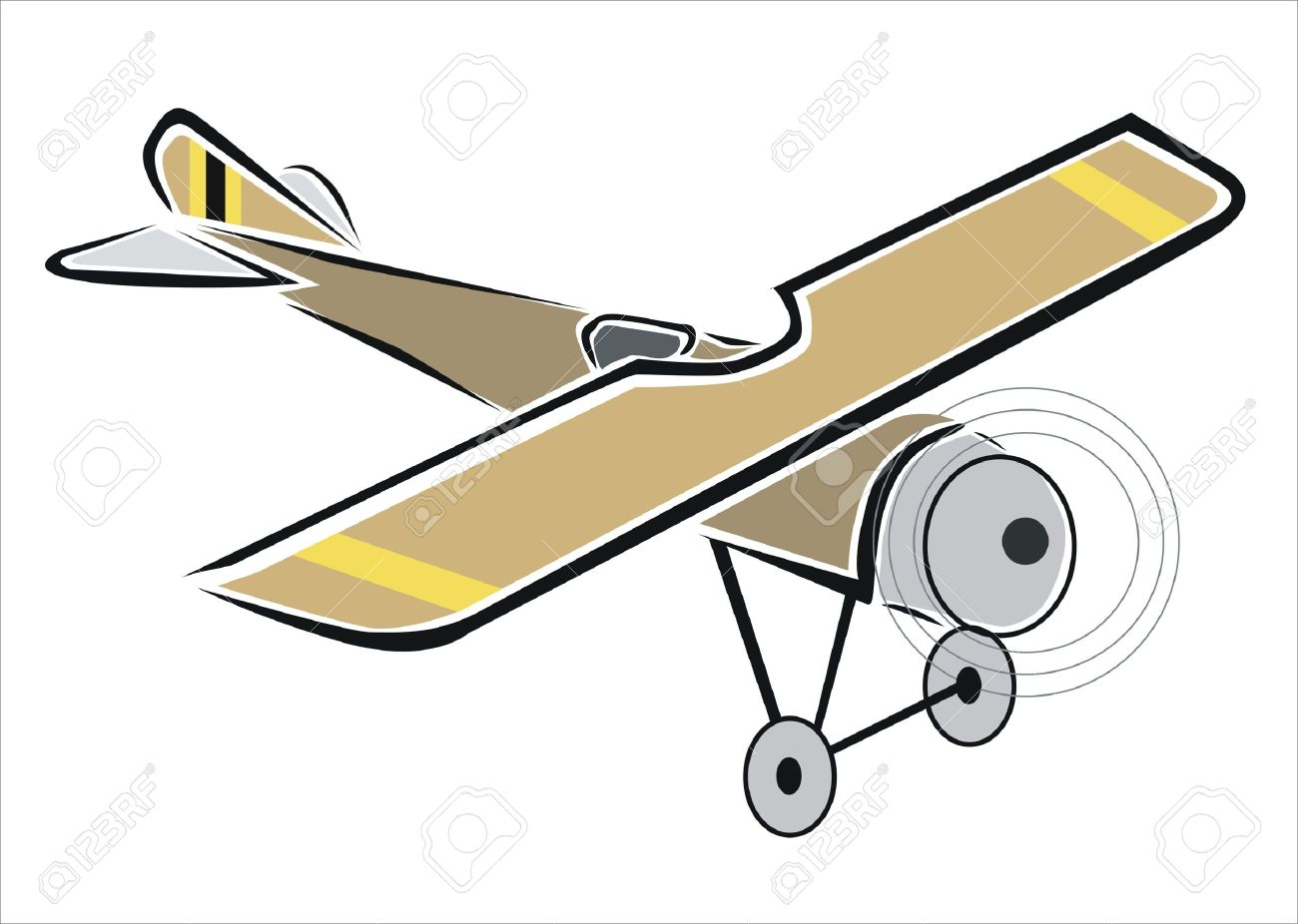 1300x926 Drawing Of An Old Plane Royalty Free Cliparts, Vectors, And Stock
