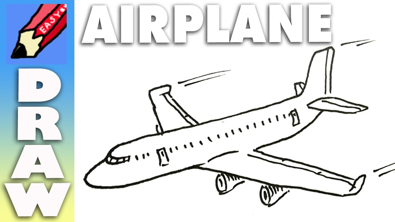 1280x720 Simple Drawing Of Airplane