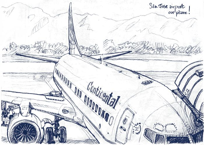 700x499 Waiting For My Flight. Pencil Drawing. Lynne Chapman. Sketchbook