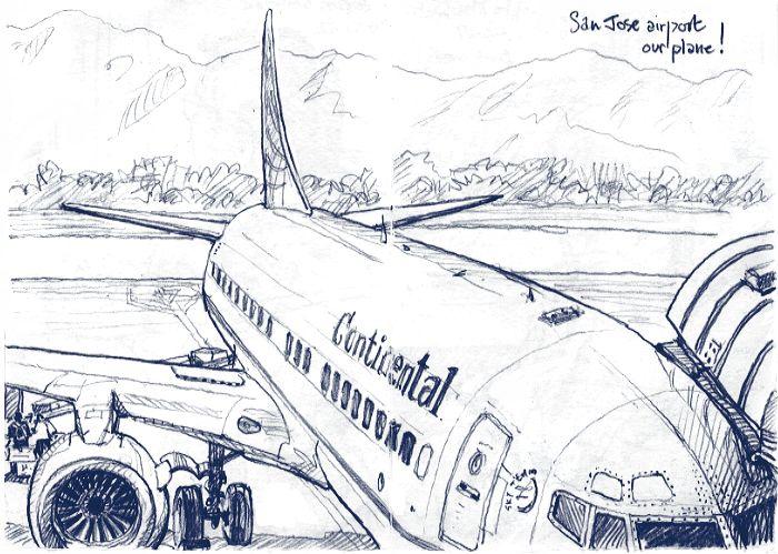 Airplane Pencil Drawing At Getdrawings Com
