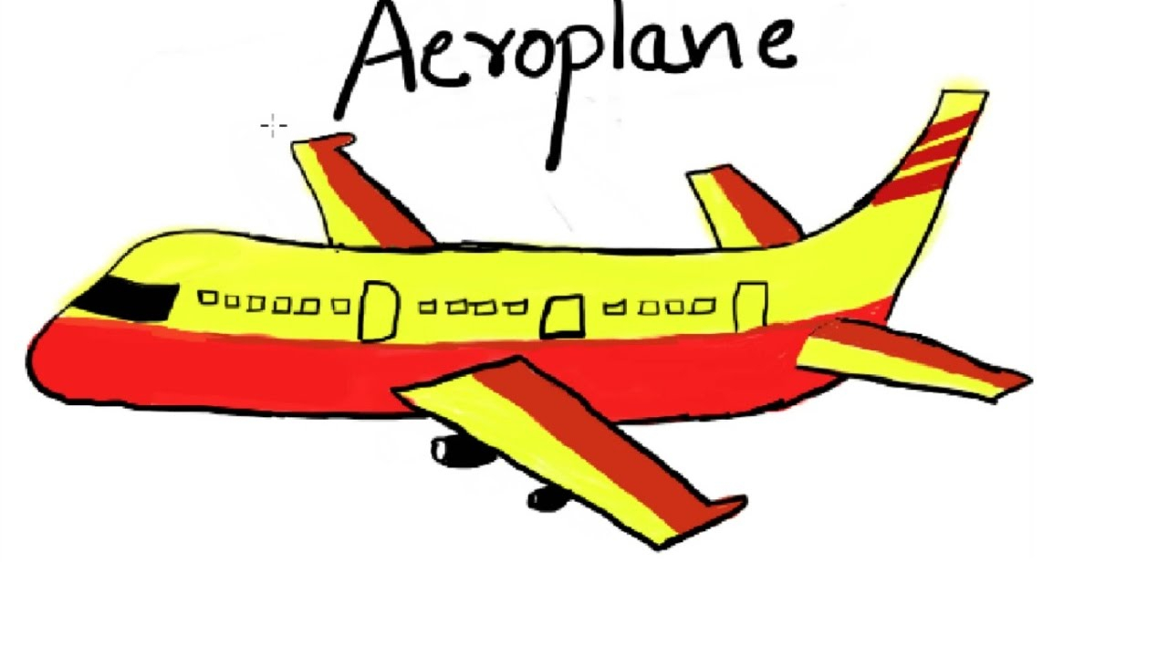 1280x720 Aeroplane Pictures For Drawing How To Draw A Plane For Kids