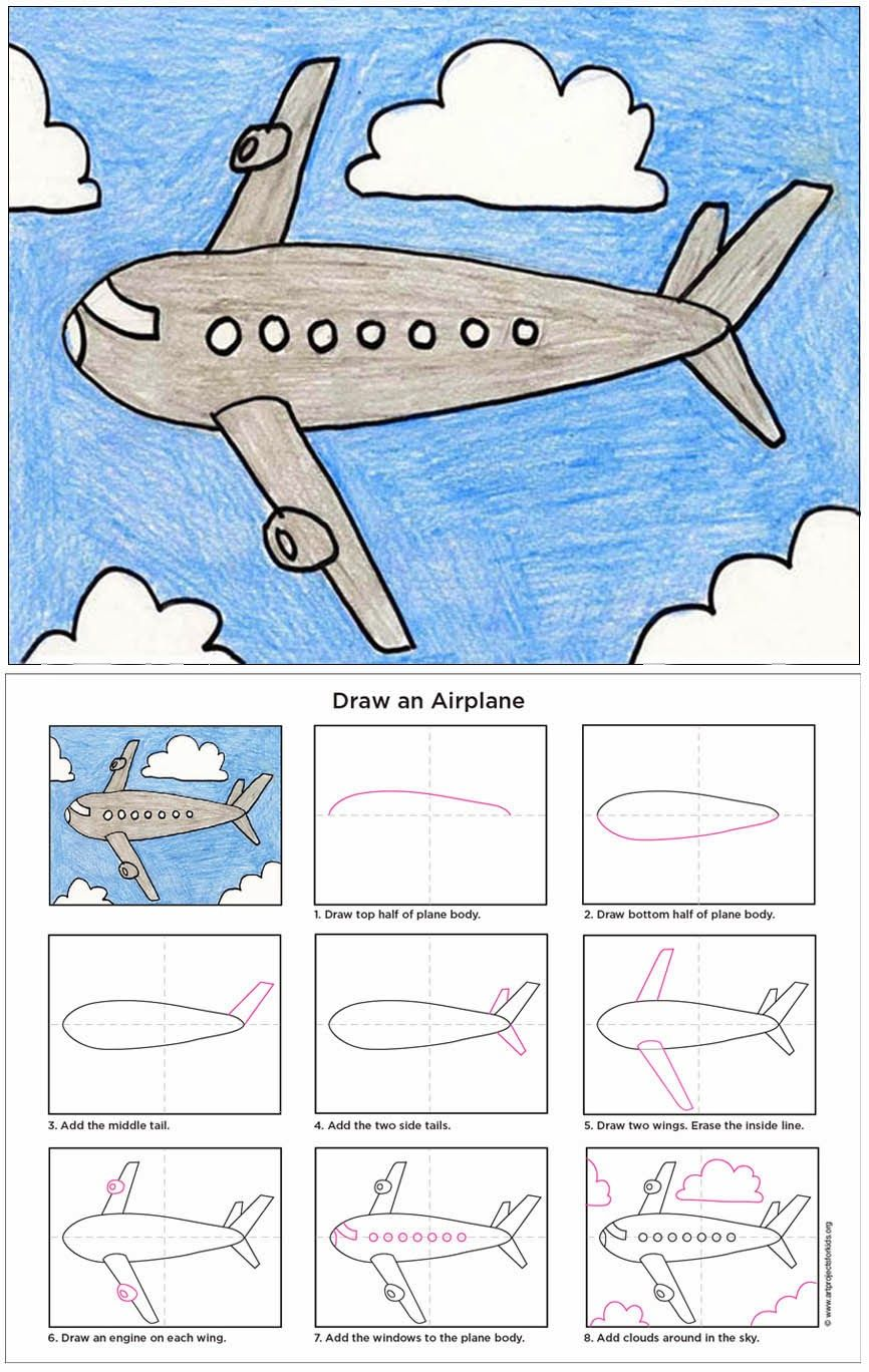 866x1368 Draw An Airplane Airplanes, Pdf And Filing