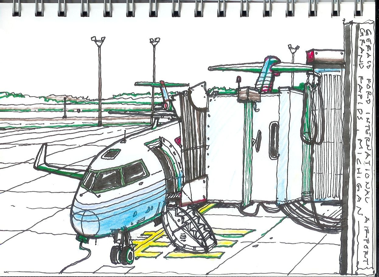 1245x909 Drawing Of Airport