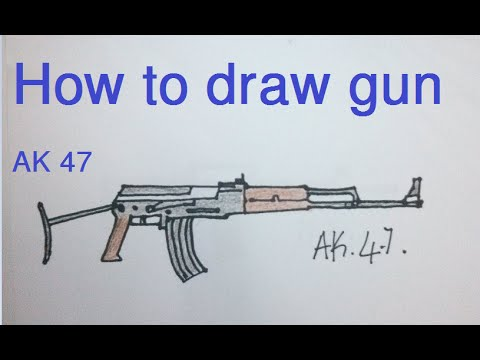 480x360 How To Draw Gun (How To Draw Ak 47)