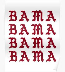 210x230 Alabama Drawing Posters Redbubble