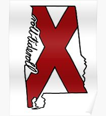 210x230 Alabama State Drawing Posters Redbubble