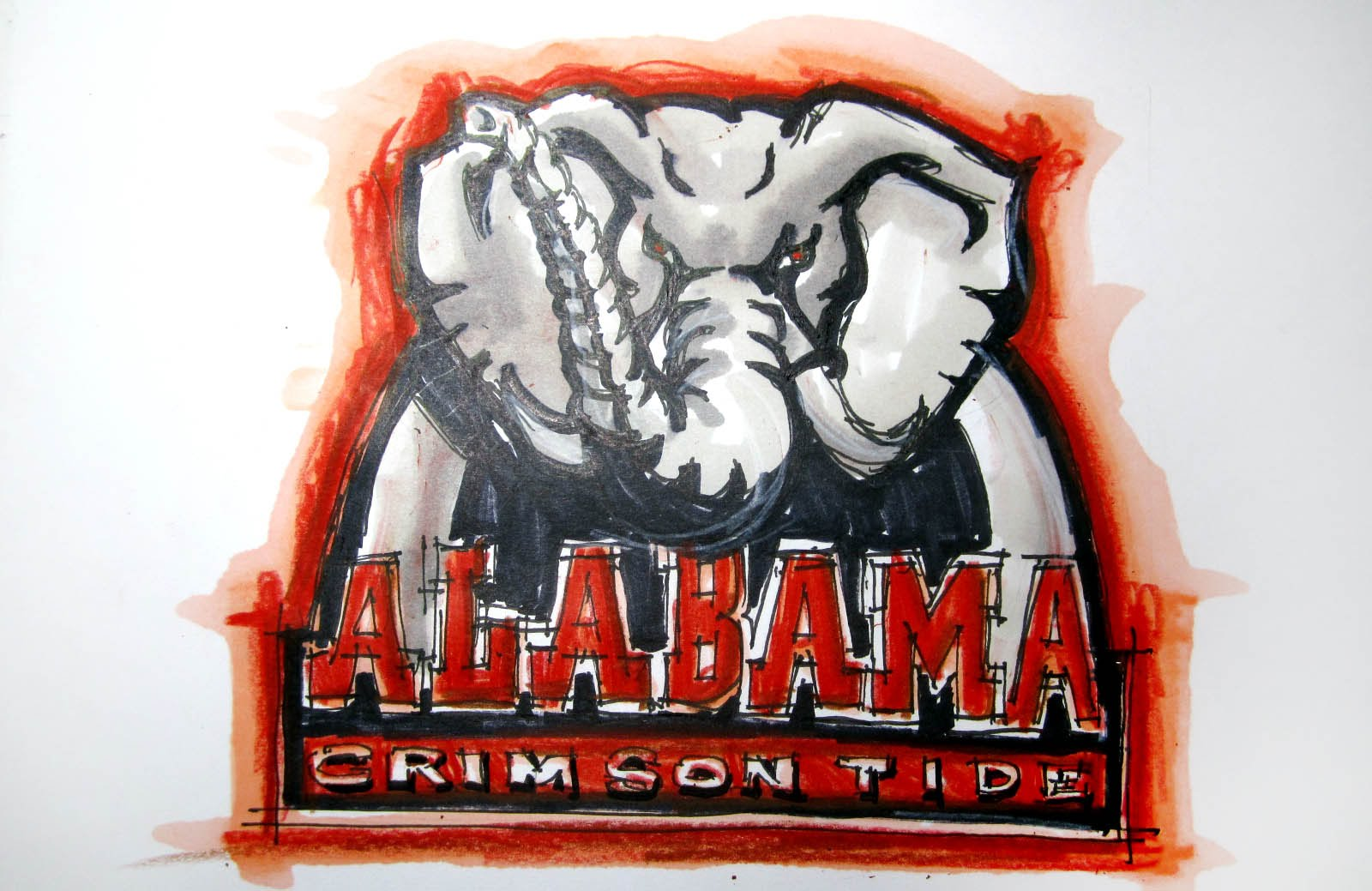 1600x1039 College Logo Series Alabama (Univ. Of Alabama) Crimson Tide Time