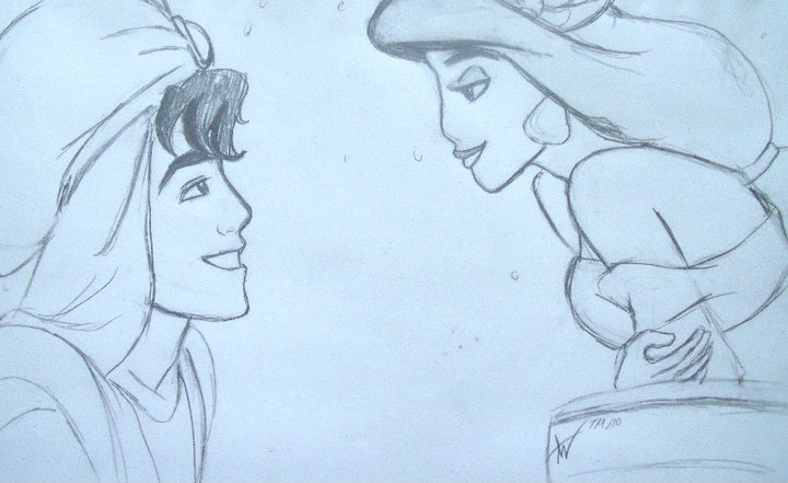 720x441 aladdin and jasmine wip by arri stark on deviantart