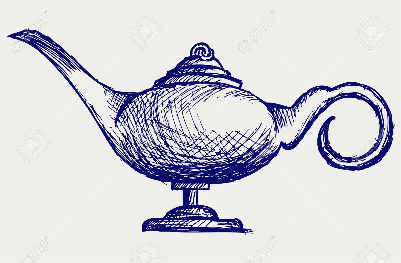 1300x853 1,381 Aladdin Lamp Stock Illustrations, Cliparts And Royalty Free