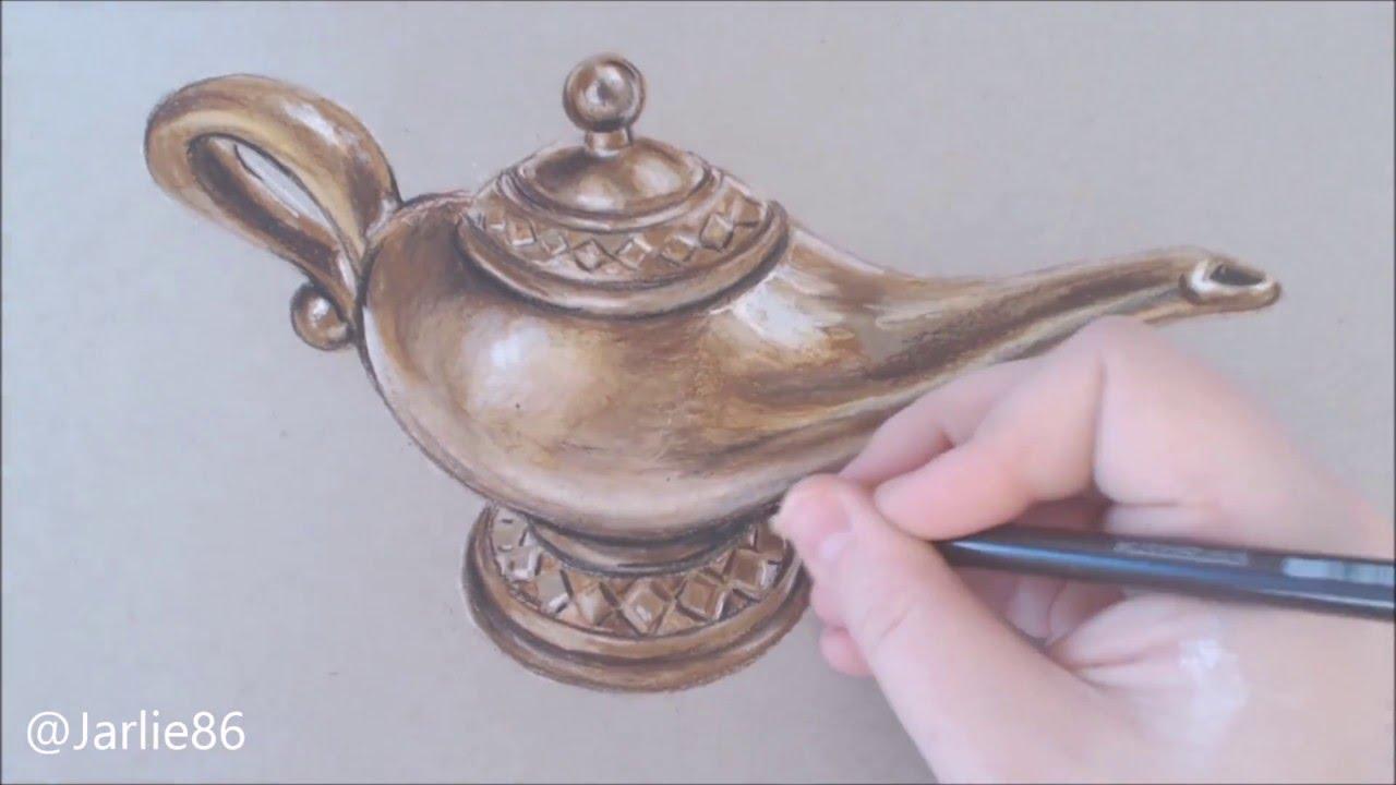 1280x720 Speed Art Aladdin's Magic Lamp