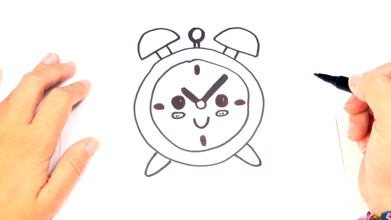 1280x720 How To Draw A Alarm Clock Step By Step Alarm Clock Drawing