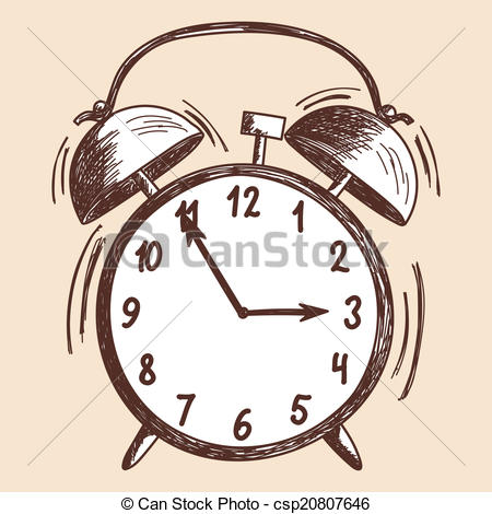 450x470 Alarm Clock Sketch. Eps 10 Vector Illustration Without Eps