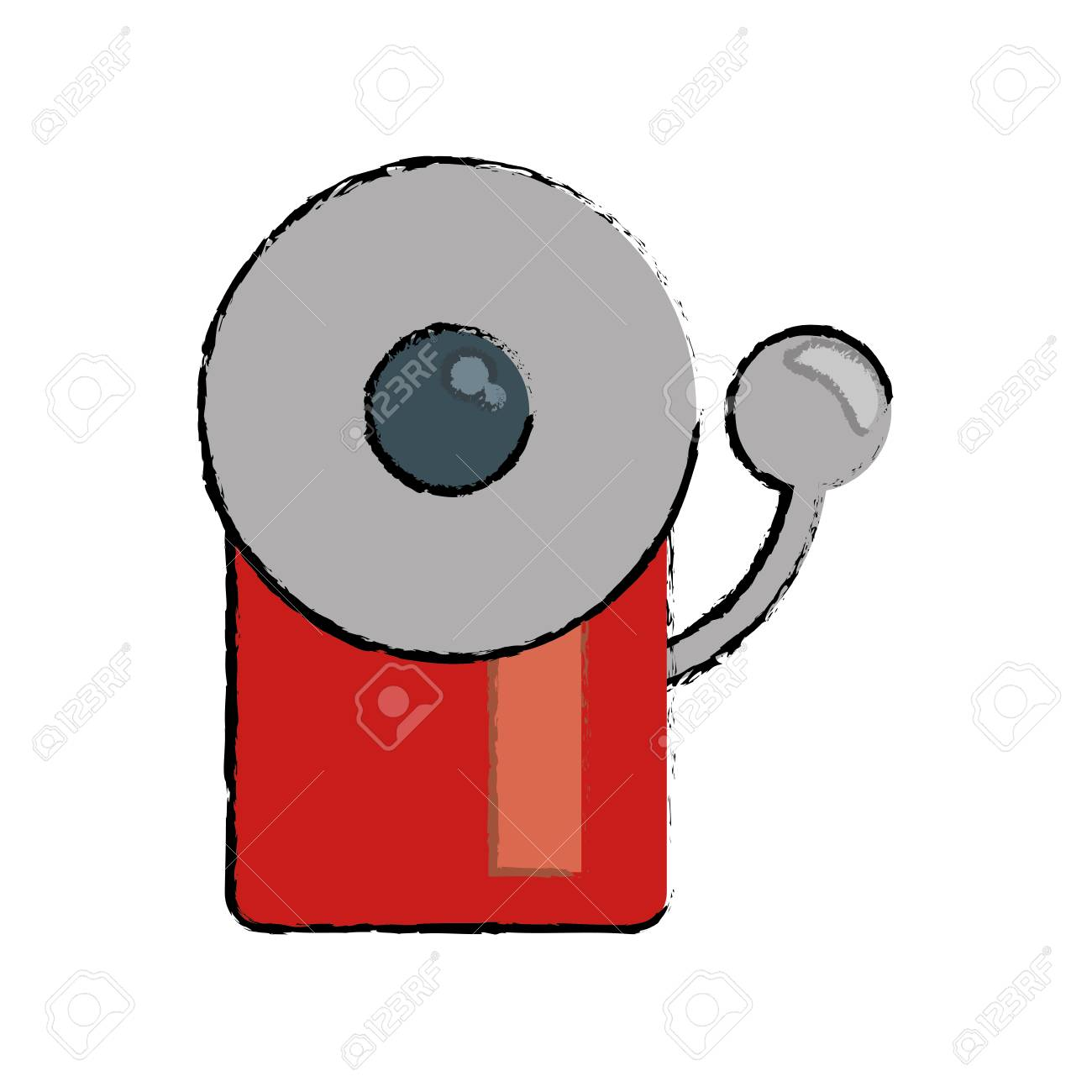 1300x1300 Drawing Alarm Fire Emergency Alert Icon Vector Illustration Eps