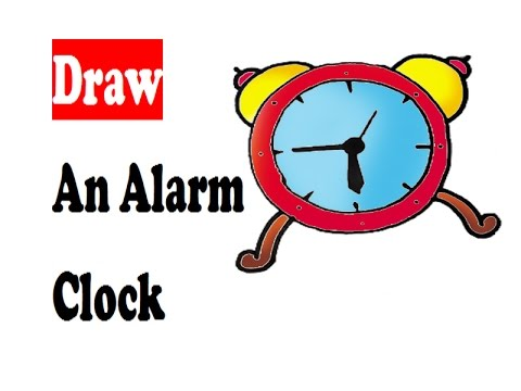 480x360 How To Draw A Alarm Clock For Kids Step By Step Cartoon Drawing