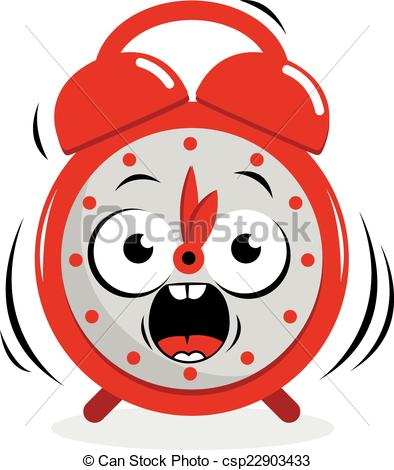 394x470 Stressed Ringing Alarm Clock. A Ringing Cartoon Alarm Clock