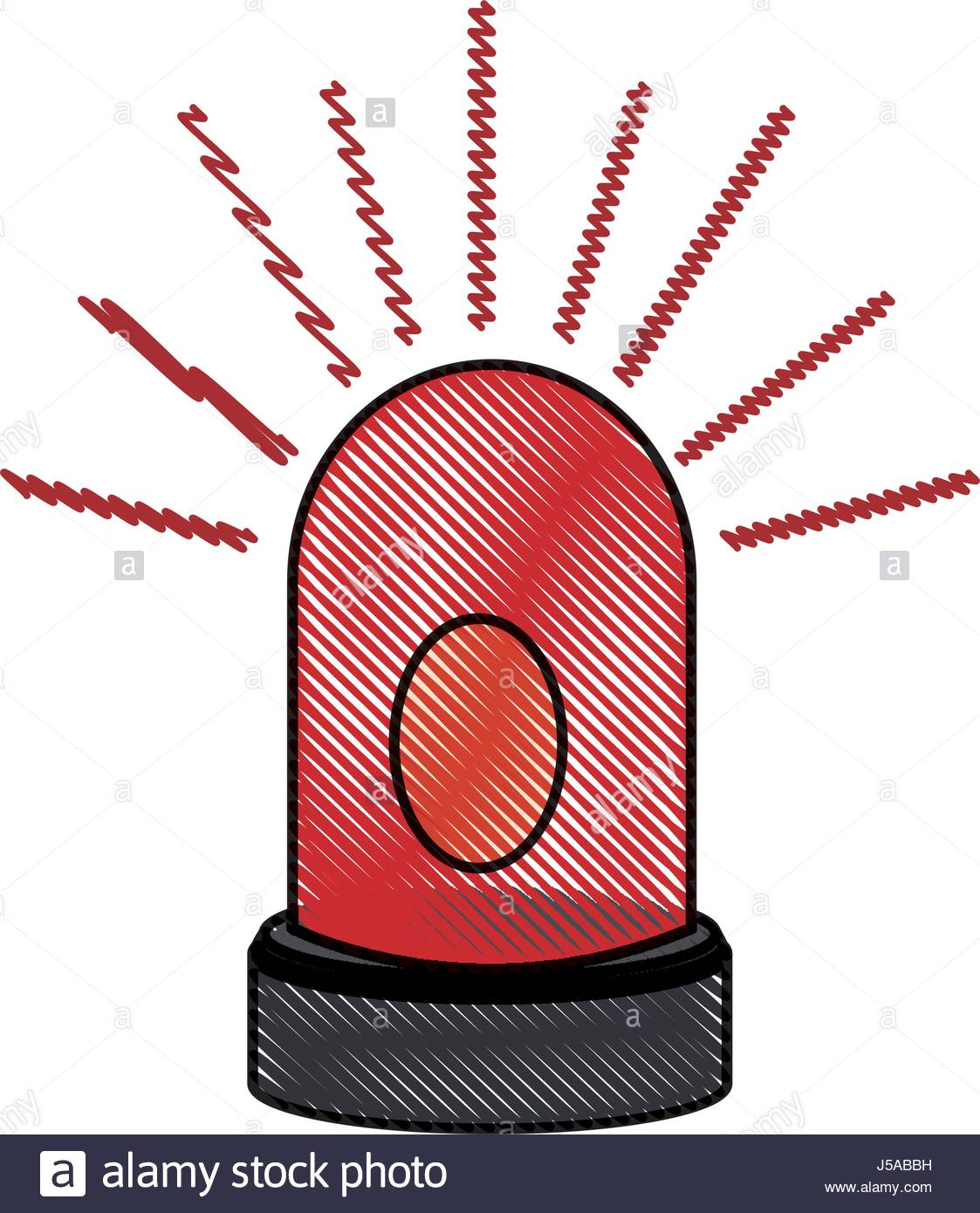 1123x1390 Drawing Alarm Warning Technology System Virus Stock Vector Art