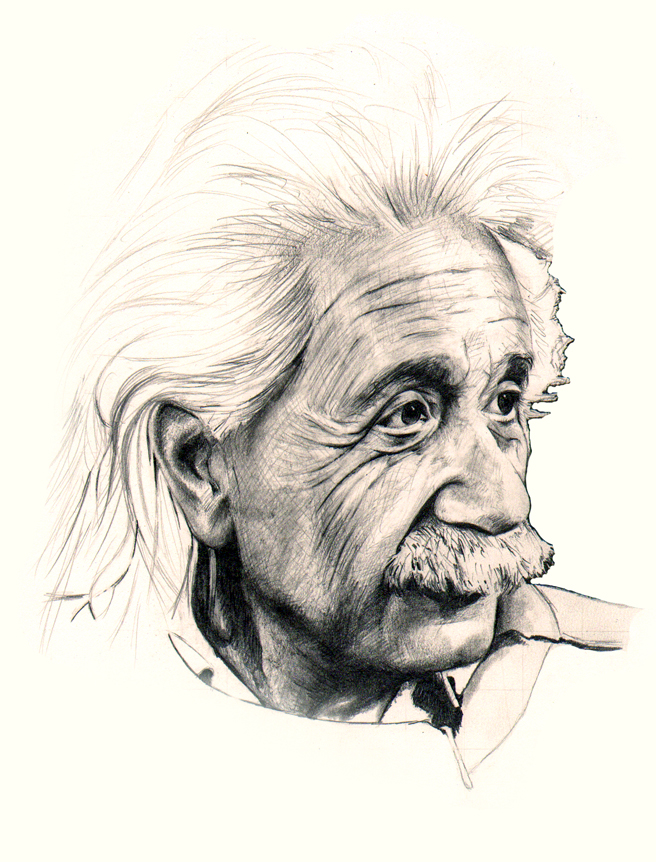656x862 Albert Einstein By Jimbo101