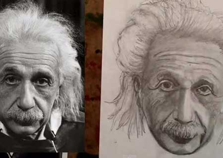 450x320 How To Draw Albert Einstein Step By Step Drawing Tutorial