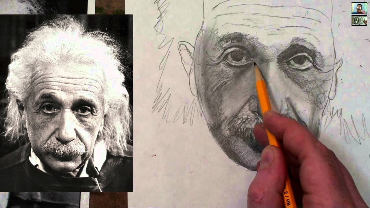 1280x720 How To Draw Albert Einstein Step By Step Drawing Tutorial
