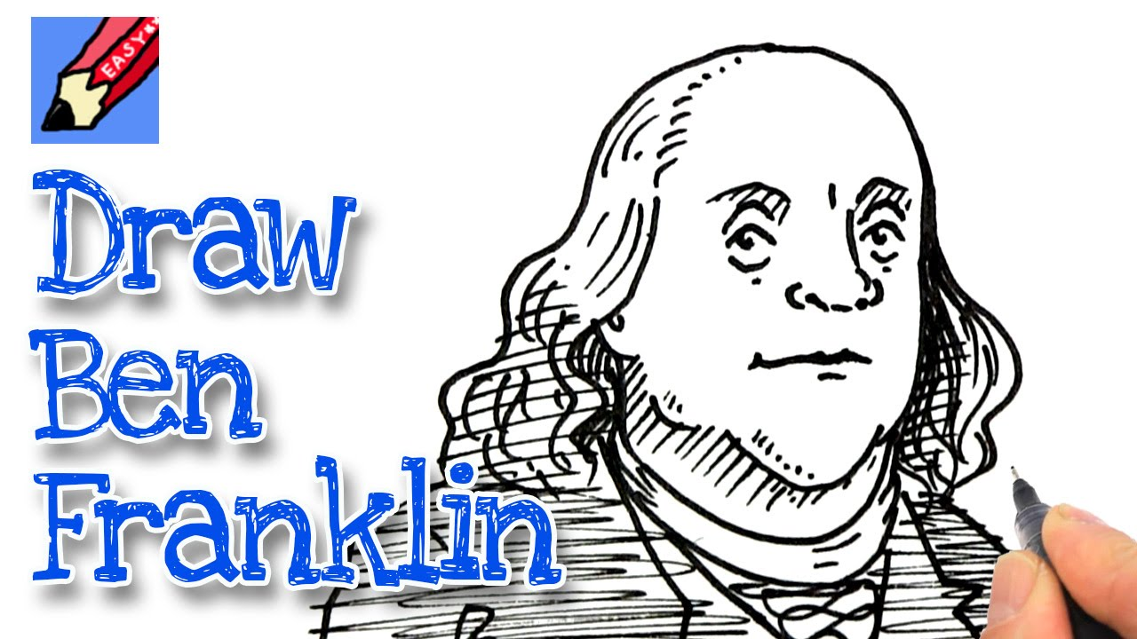 1280x720 How To Draw Benjamin Franklin Real Easy For July 4th