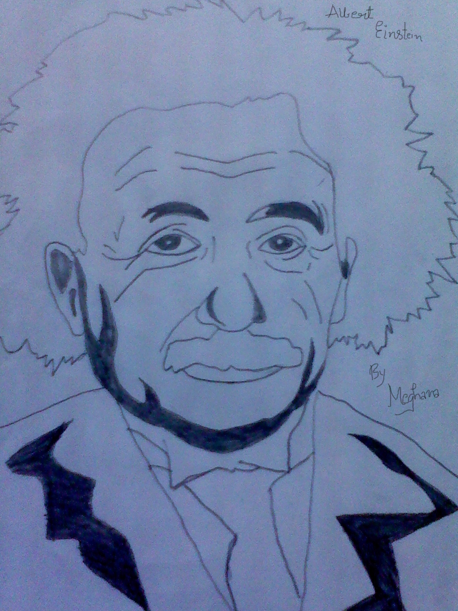 1536x2048 Pencil Sketch Of Albert Einstein