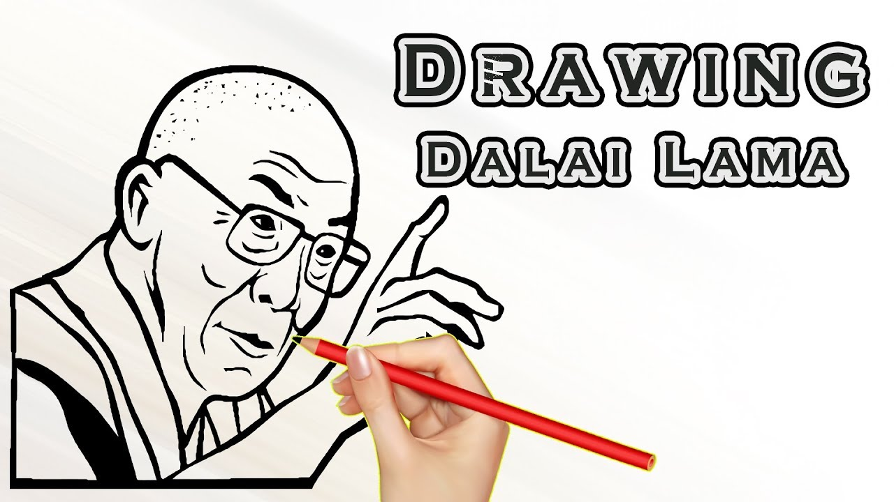 1280x720 Drawing Dalai Lama Draw Easy For Kids Drawing Famous People
