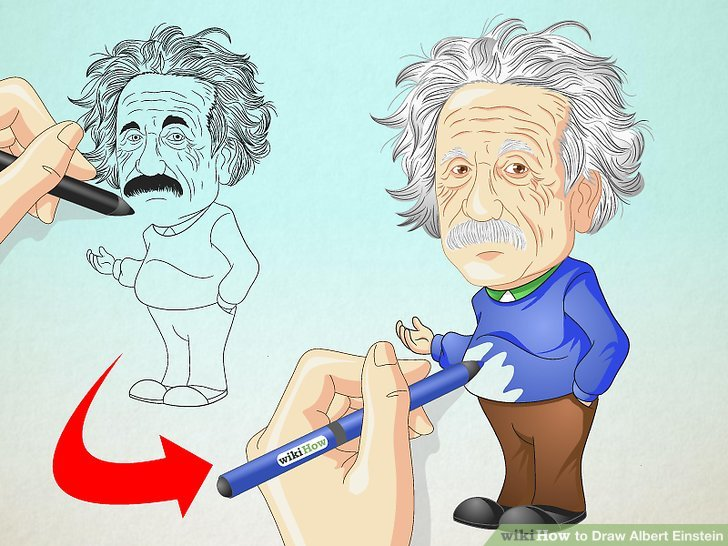 728x546 How To Draw Albert Einstein 8 Steps (With Pictures)