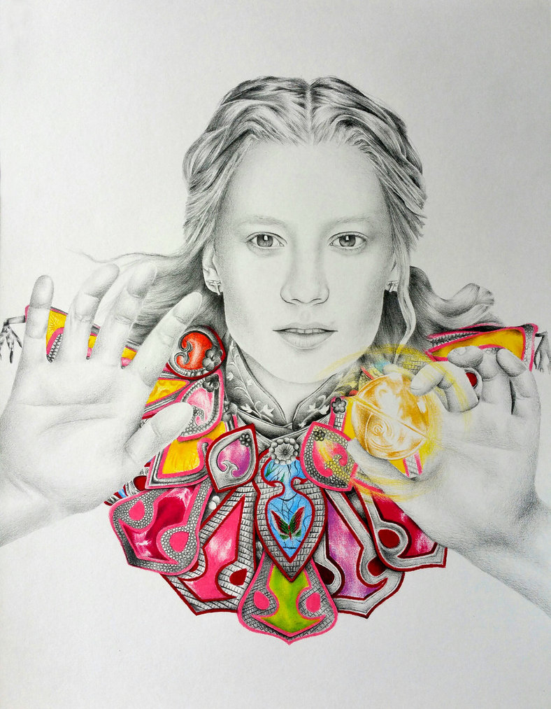 788x1013 Alice Alice In Wonderland Pencil Drawing By Charlottexbx